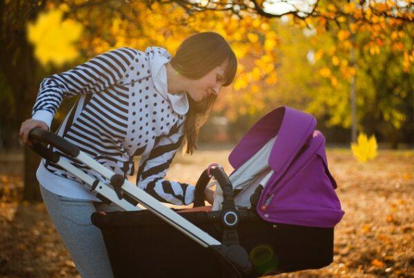 gå med baby - frisk luft